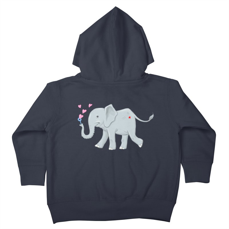 Elephant Bubbles Kids Toddler Zip-Up Hoody by brandongarrison's Artist Shop
