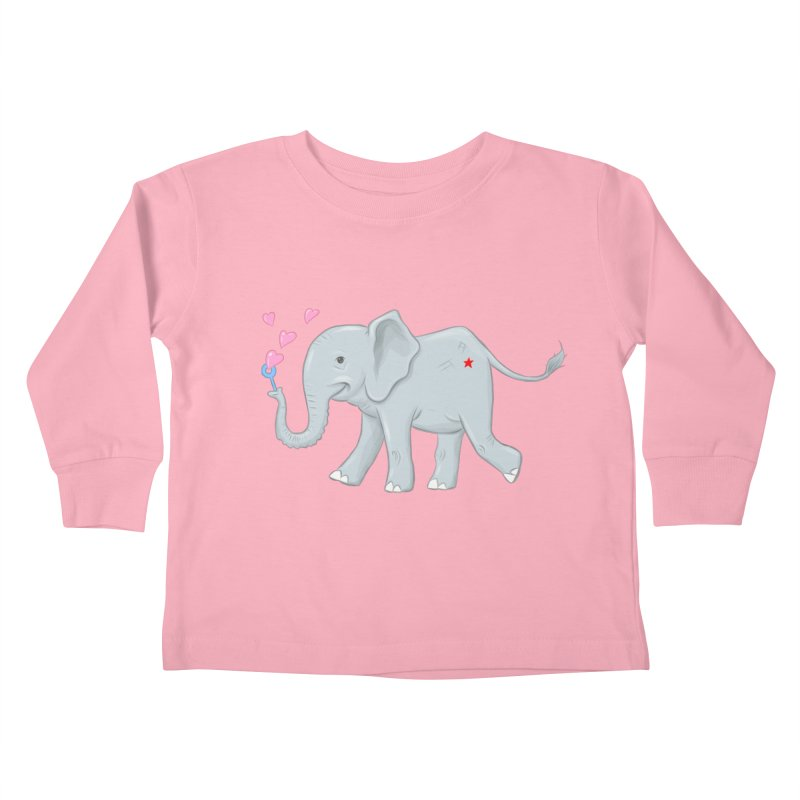 Elephant Bubbles Kids Toddler Longsleeve T-Shirt by brandongarrison's Artist Shop