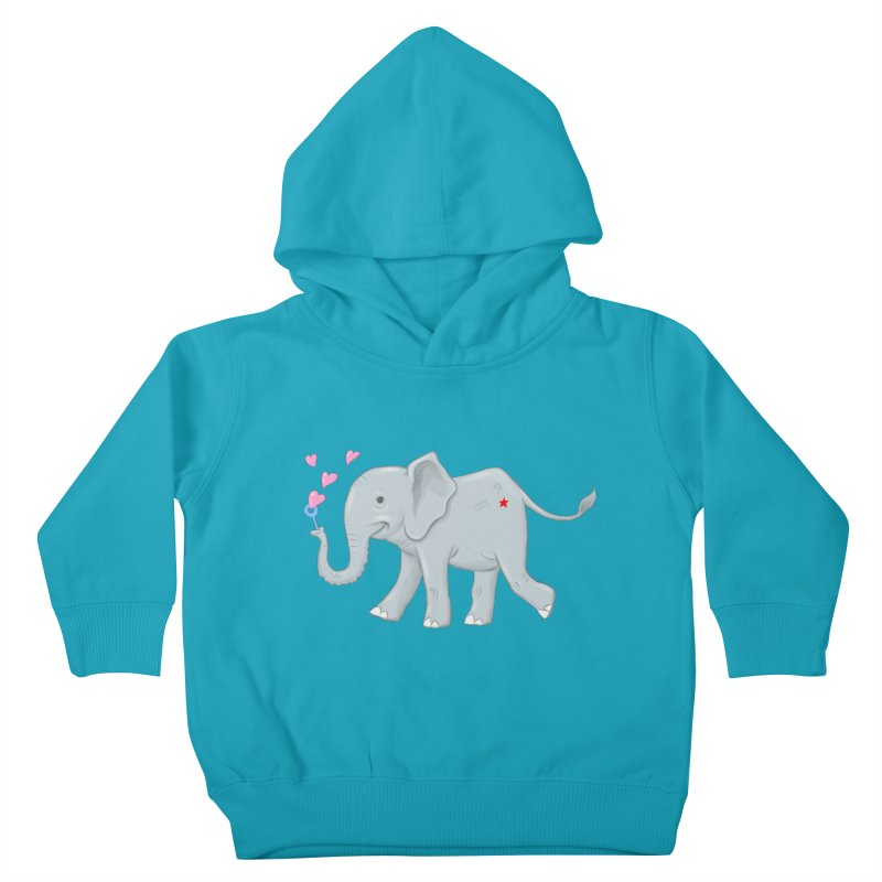 Elephant Bubbles Kids Toddler Pullover Hoody by brandongarrison's Artist Shop