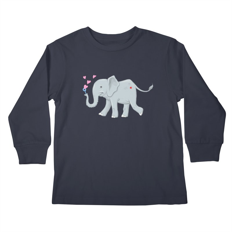 Elephant Bubbles Kids Longsleeve T-Shirt by brandongarrison's Artist Shop