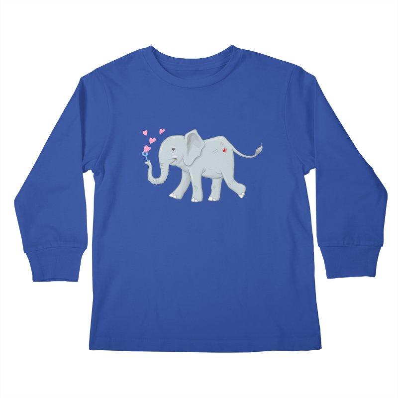 Elephant Bubbles Kids Longsleeve T-Shirt by brandongarrison's Artist Shop