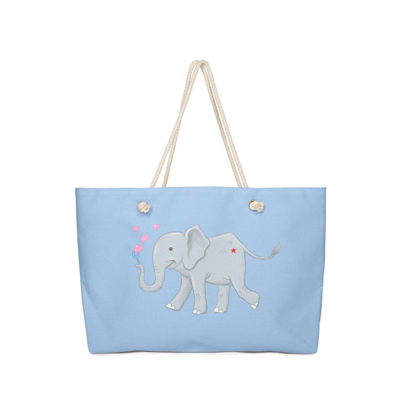 Elephant Bubbles Accessories Weekender Bag Bag by brandongarrison's Artist Shop