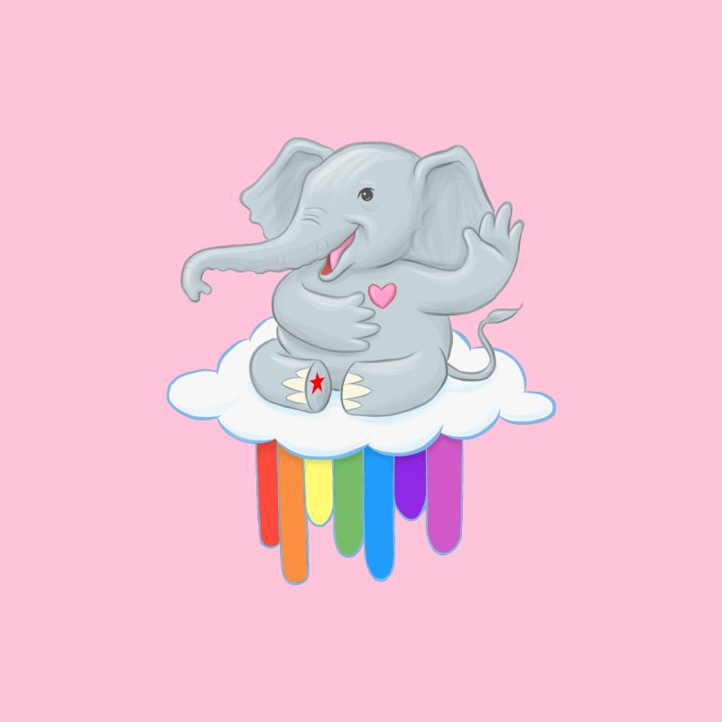 Rainbow Elephant Kids Baby Zip-Up Hoody by brandongarrison's Artist Shop