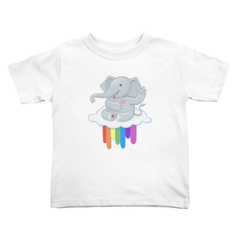 Rainbow Elephant Kids Toddler T-Shirt by brandongarrison's Artist Shop