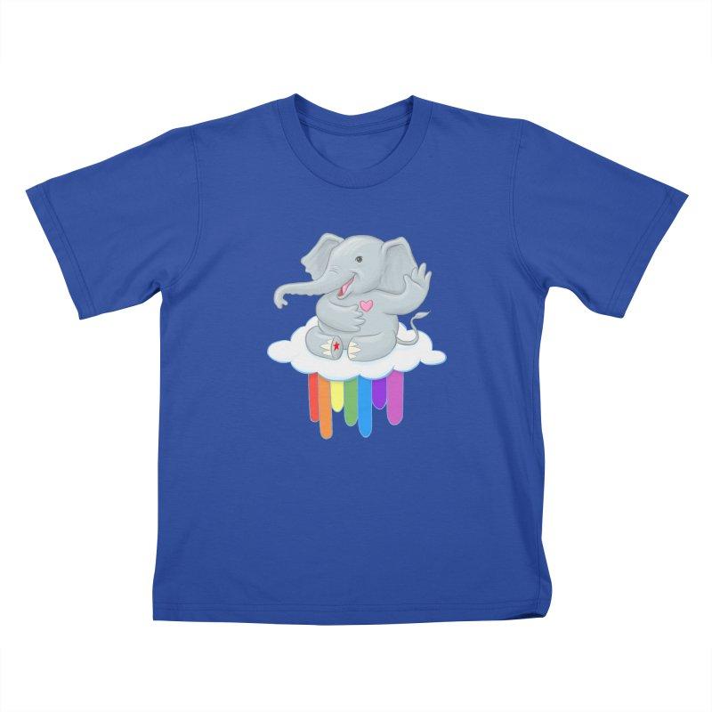 Rainbow Elephant Kids T-Shirt by brandongarrison's Artist Shop
