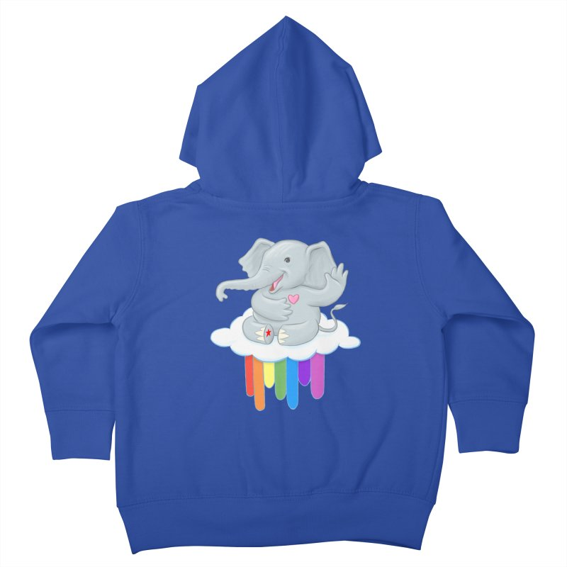 Rainbow Elephant Kids Toddler Zip-Up Hoody by brandongarrison's Artist Shop