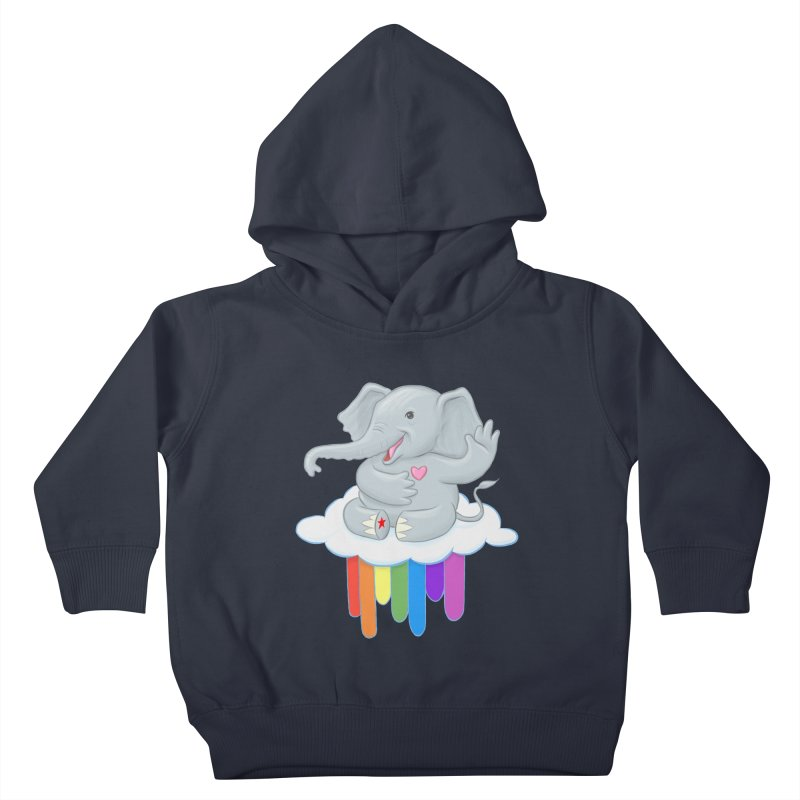 Rainbow Elephant Kids Toddler Pullover Hoody by brandongarrison's Artist Shop