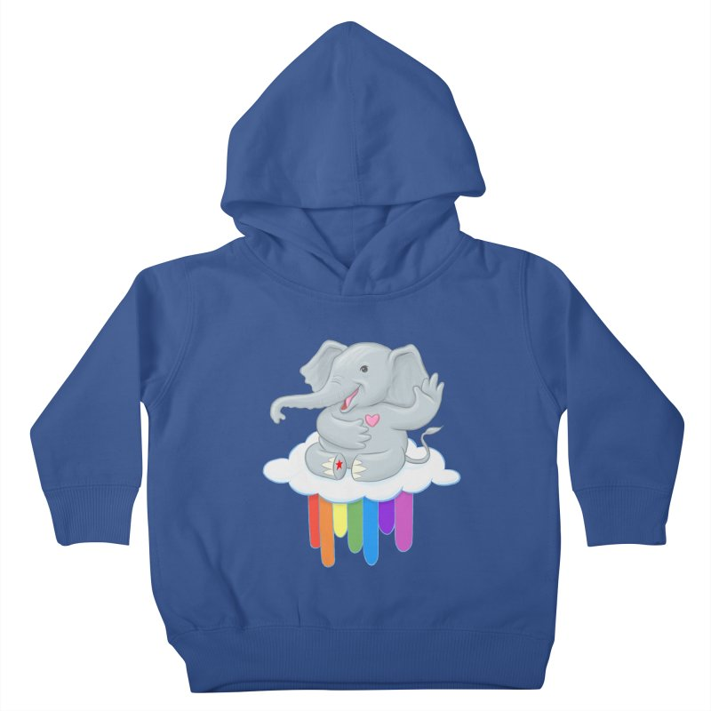 Rainbow Elephant Kids Toddler Pullover Hoody by brandongarrison's Artist Shop
