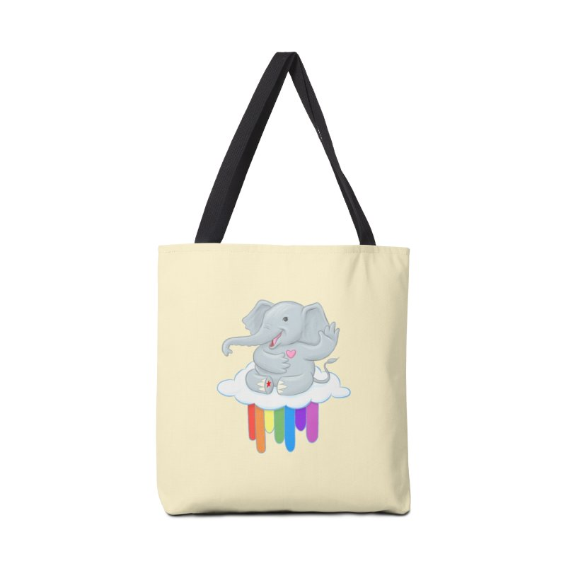 Rainbow Elephant Accessories Tote Bag Bag by brandongarrison's Artist Shop