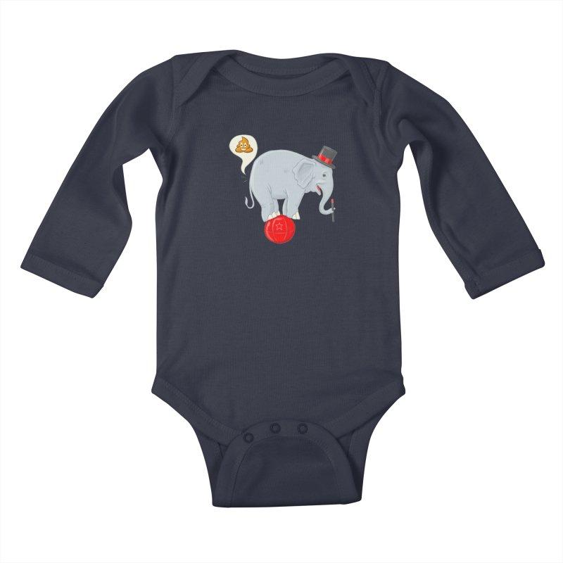 Backdoor Magic Kids Baby Longsleeve Bodysuit by brandongarrison's Artist Shop