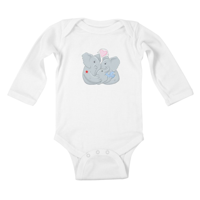 Huge Gift. Tiny Package. Kids Baby Longsleeve Bodysuit by brandongarrison's Artist Shop