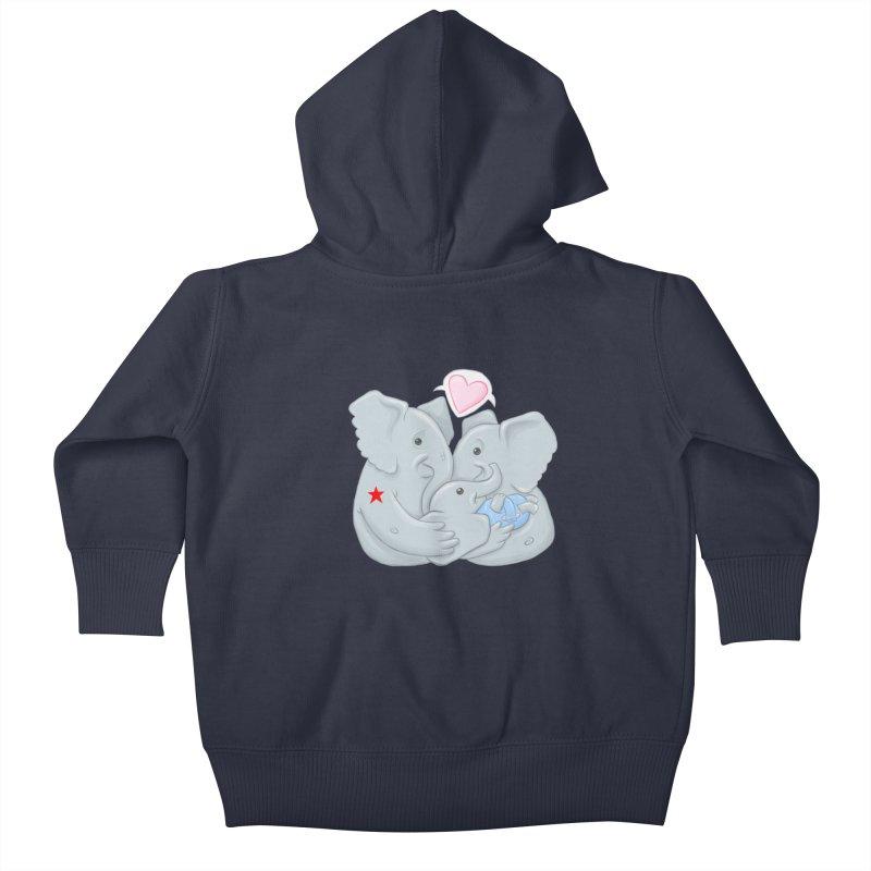 Huge Gift. Tiny Package. Kids Baby Zip-Up Hoody by brandongarrison's Artist Shop