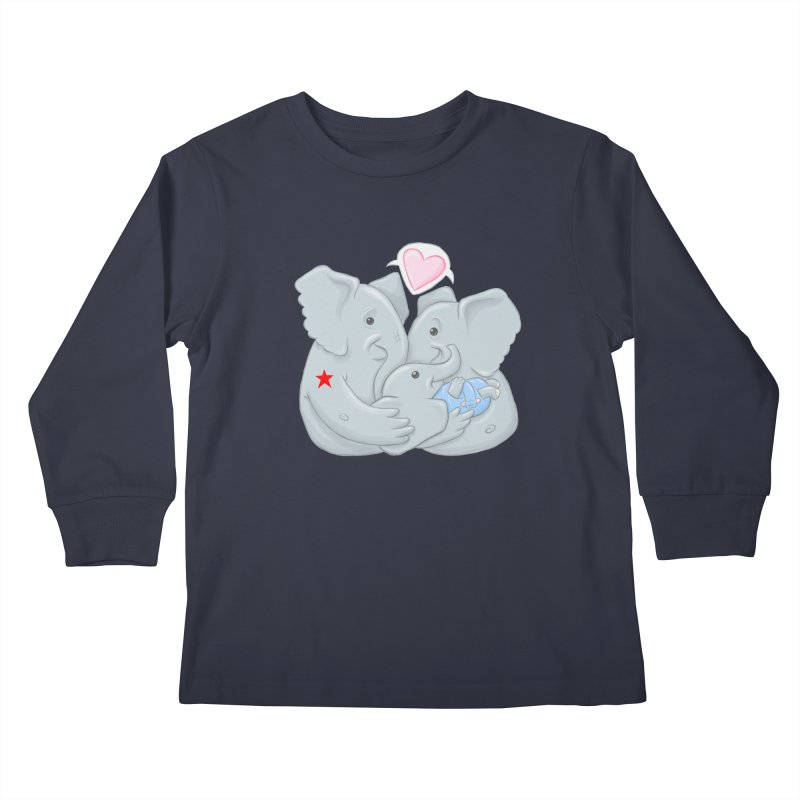 Huge Gift. Tiny Package. Kids Longsleeve T-Shirt by brandongarrison's Artist Shop