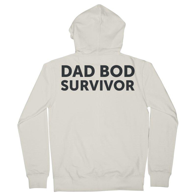 Dad Bod Survivor-In Black Men's Zip-Up Hoody by brandongarrison's Artist Shop