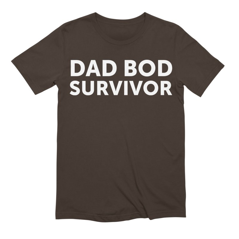 Dad Bod Survivor-In White Men's T-Shirt by brandongarrison's Artist Shop