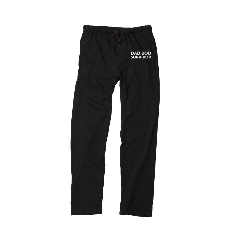 Dad Bod Survivor-In White Men's Lounge Pants by brandongarrison's Artist Shop
