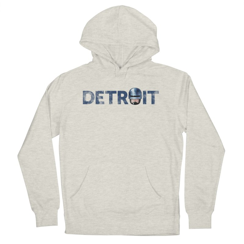 Robotroit- Blue Men's French Terry Pullover Hoody by brandongarrison's Artist Shop