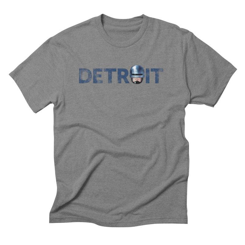 Robotroit- Blue Men's Triblend T-Shirt by brandongarrison's Artist Shop
