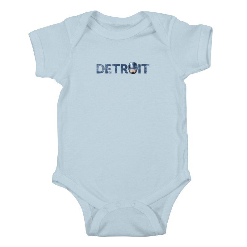 Robotroit- Blue Kids Baby Bodysuit by brandongarrison's Artist Shop