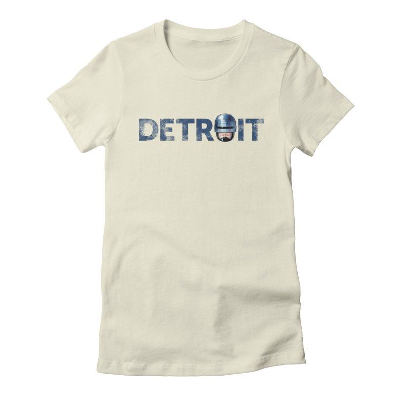 Robotroit- Blue Women's Fitted T-Shirt by brandongarrison's Artist Shop