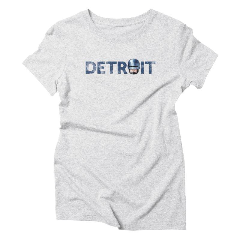 Robotroit- Blue Women's Triblend T-Shirt by brandongarrison's Artist Shop