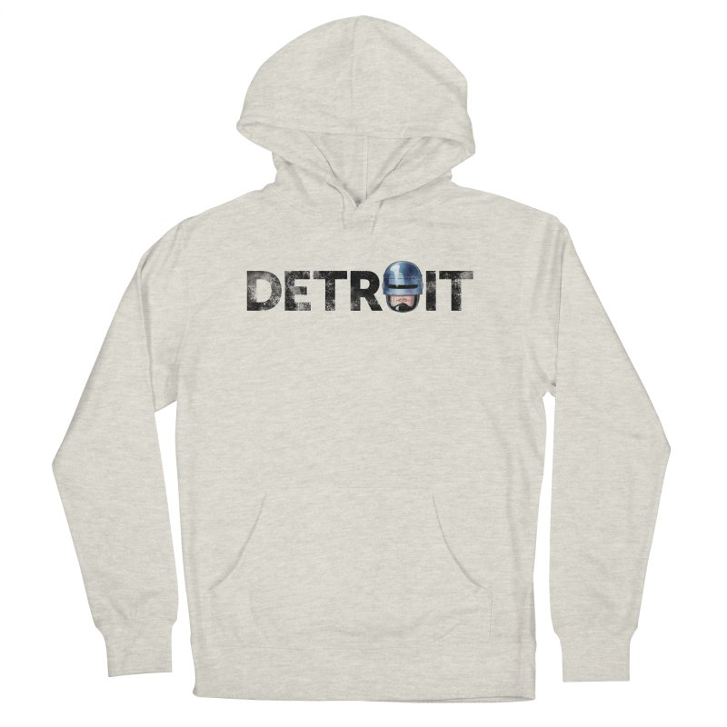 Robotroit- Black Men's French Terry Pullover Hoody by brandongarrison's Artist Shop