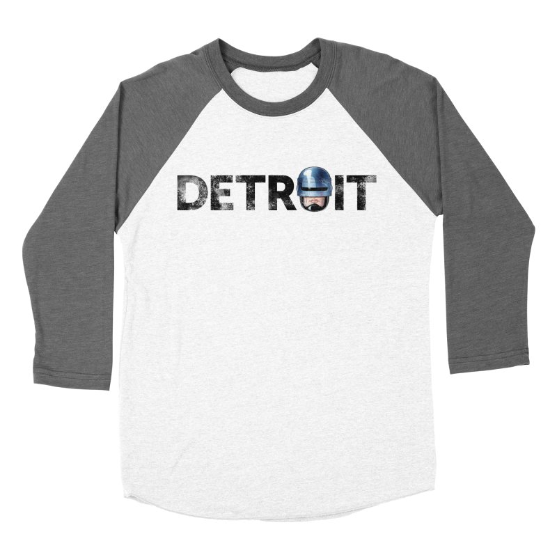 Robotroit- Black Women's Baseball Triblend Longsleeve T-Shirt by brandongarrison's Artist Shop