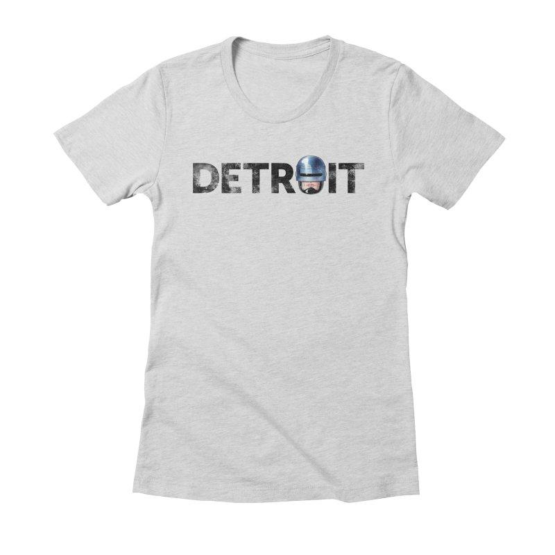 Robotroit- Black Women's Fitted T-Shirt by brandongarrison's Artist Shop