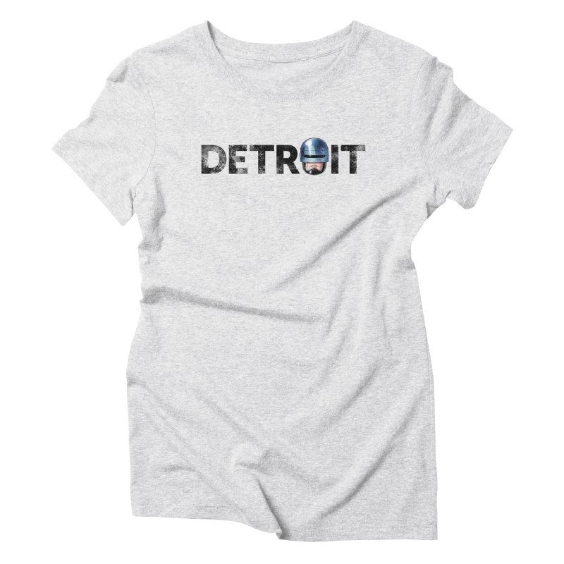 Robotroit- Black Women's Triblend T-Shirt by brandongarrison's Artist Shop