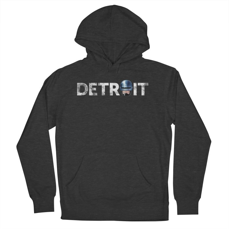 Robotroit- White Women's French Terry Pullover Hoody by brandongarrison's Artist Shop