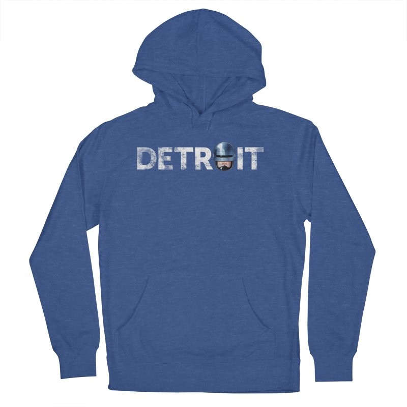 Robotroit- White Men's French Terry Pullover Hoody by brandongarrison's Artist Shop