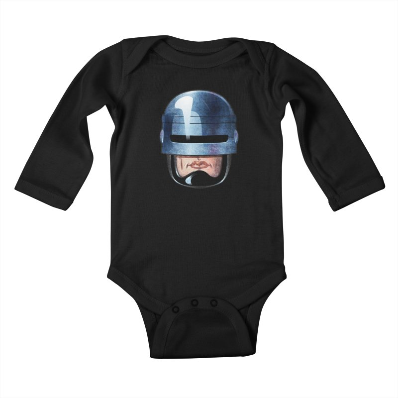 Robotroit— Just the face mame Kids Baby Longsleeve Bodysuit by brandongarrison's Artist Shop