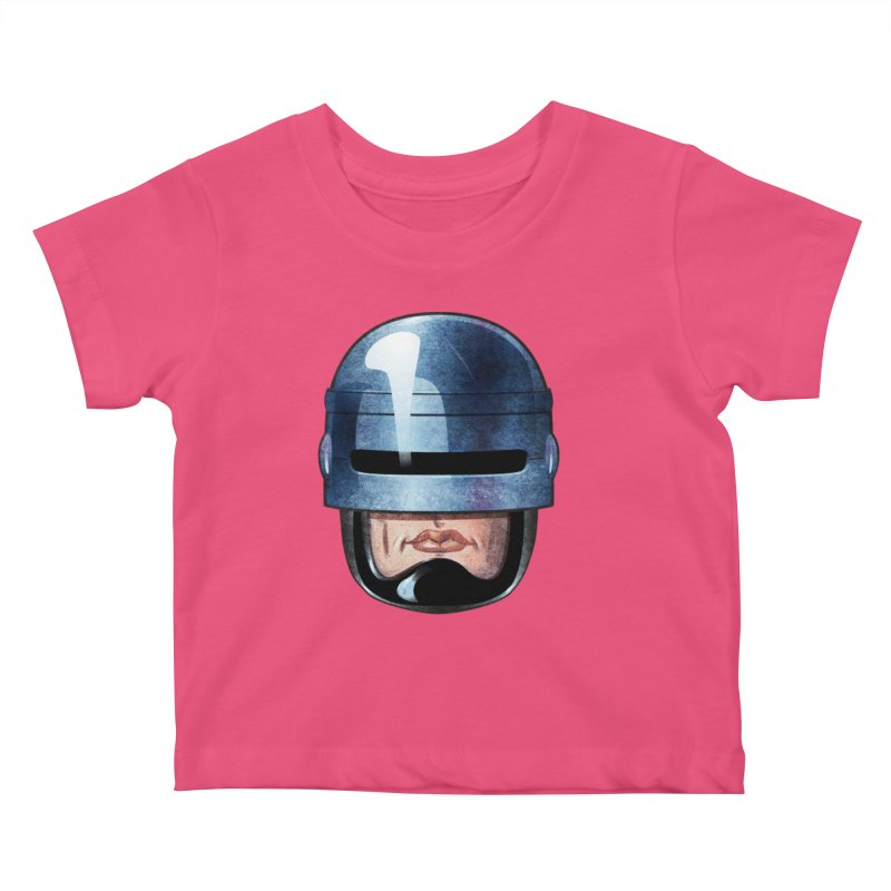 Robotroit— Just the face mame Kids Baby T-Shirt by brandongarrison's Artist Shop