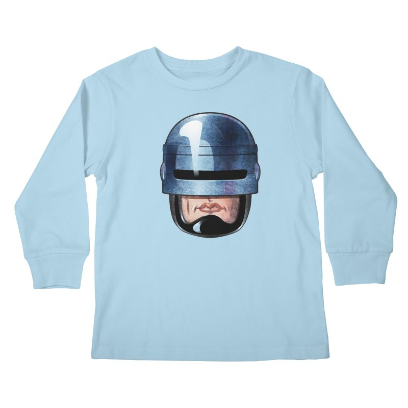 Robotroit— Just the face mame Kids Longsleeve T-Shirt by brandongarrison's Artist Shop