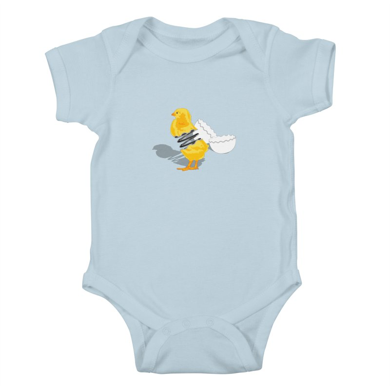 Spring Chicken Kids Baby Bodysuit by brandonjw's Artist Shop