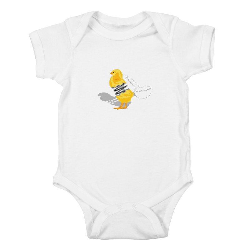 Spring Chicken Kids Baby Bodysuit by brandonjw's Artist Shop
