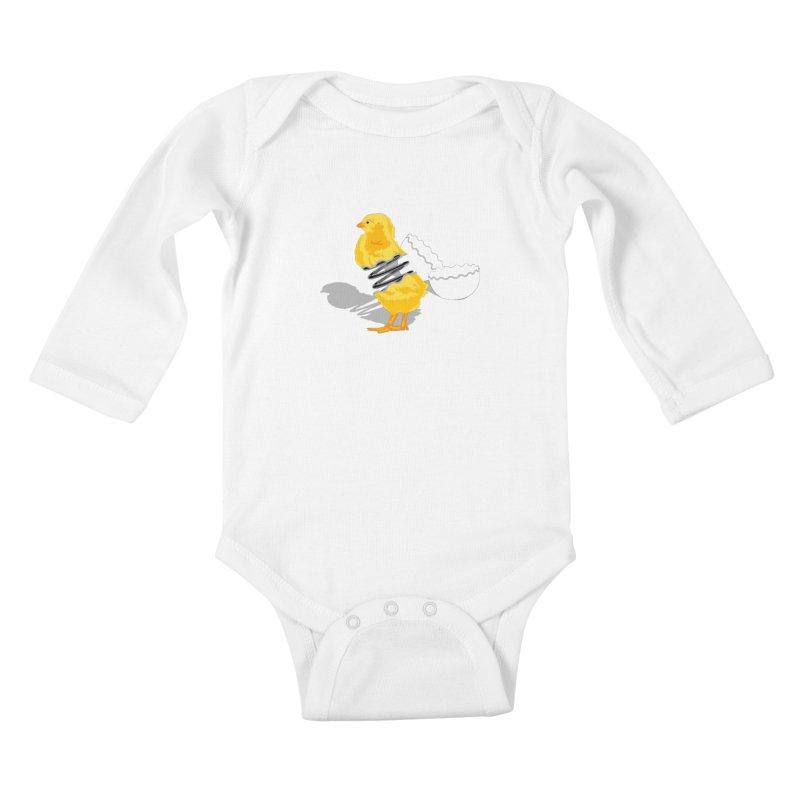 Spring Chicken Kids Baby Longsleeve Bodysuit by brandonjw's Artist Shop