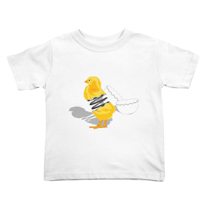 Spring Chicken Kids Toddler T-Shirt by brandonjw's Artist Shop