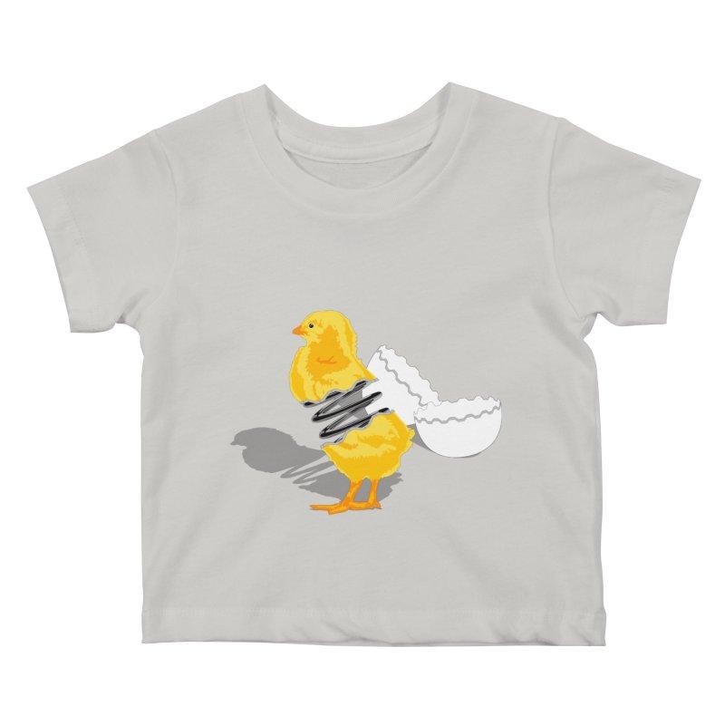 Spring Chicken Kids Baby T-Shirt by brandonjw's Artist Shop