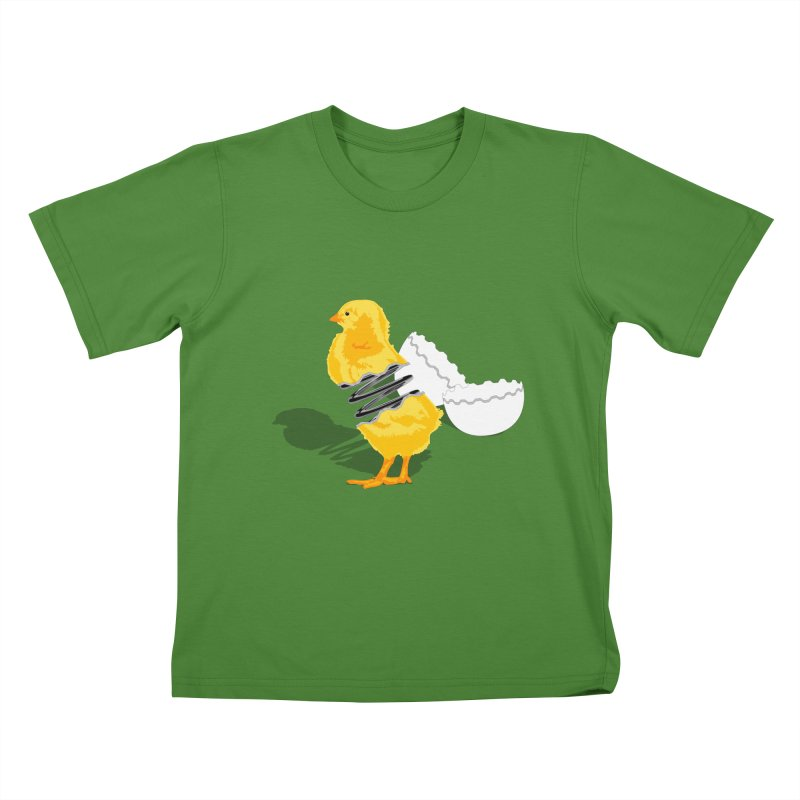 Spring Chicken Kids T-Shirt by brandonjw's Artist Shop