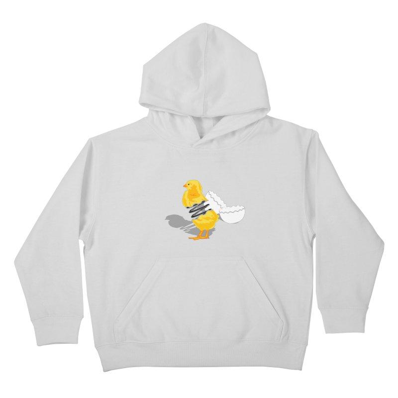 Spring Chicken Kids Pullover Hoody by brandonjw's Artist Shop