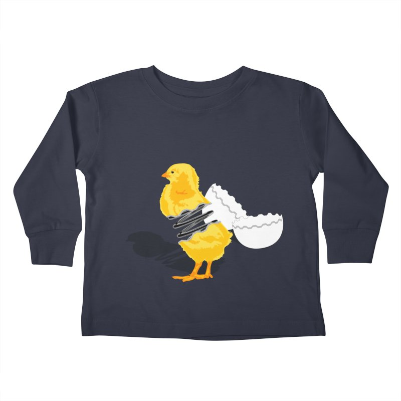 Spring Chicken Kids Toddler Longsleeve T-Shirt by brandonjw's Artist Shop