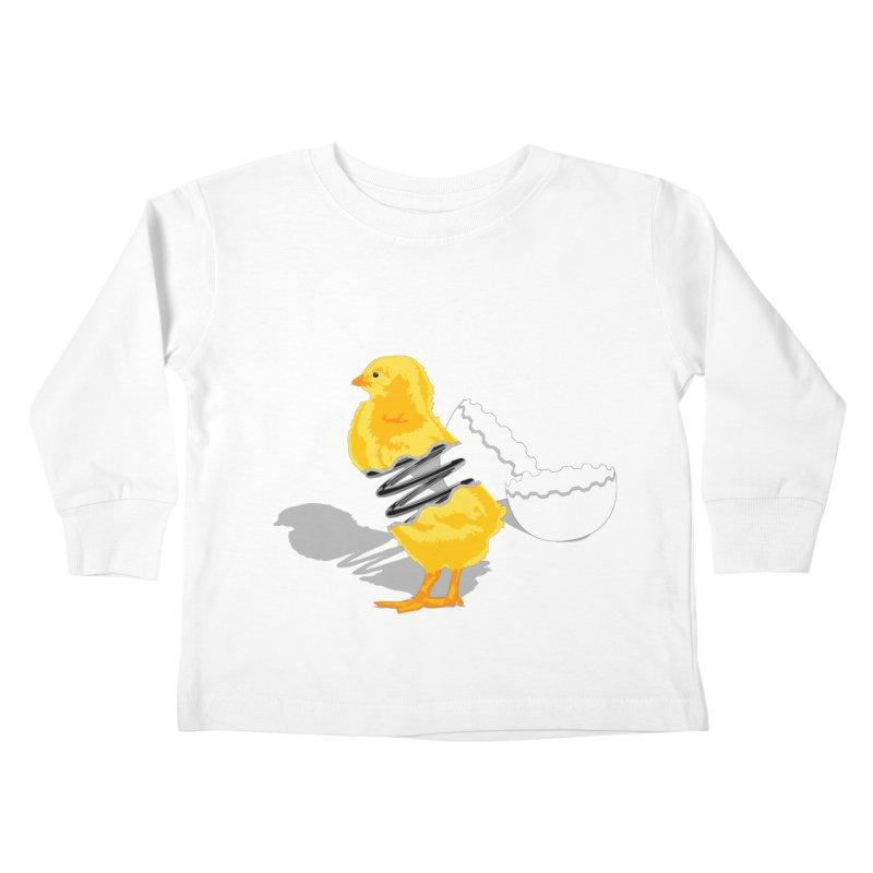 Spring Chicken Kids Toddler Longsleeve T-Shirt by brandonjw's Artist Shop