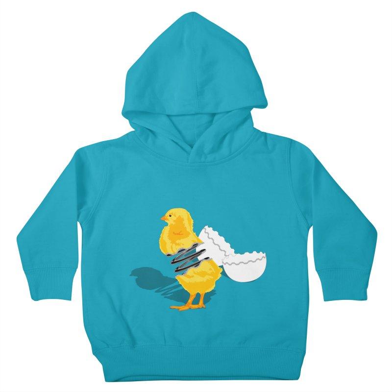 Spring Chicken Kids Toddler Pullover Hoody by brandonjw's Artist Shop