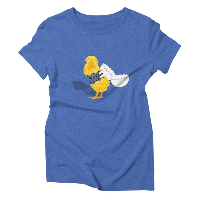 Spring Chicken Women's Triblend T-Shirt by brandonjw's Artist Shop