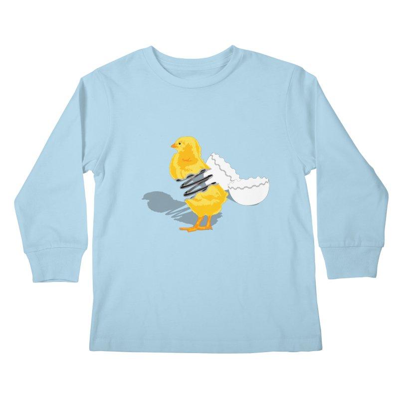 Spring Chicken Kids Longsleeve T-Shirt by brandonjw's Artist Shop
