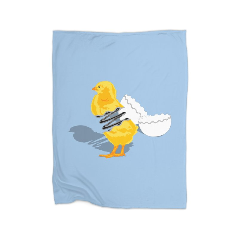 Spring Chicken Home Blanket by brandonjw's Artist Shop