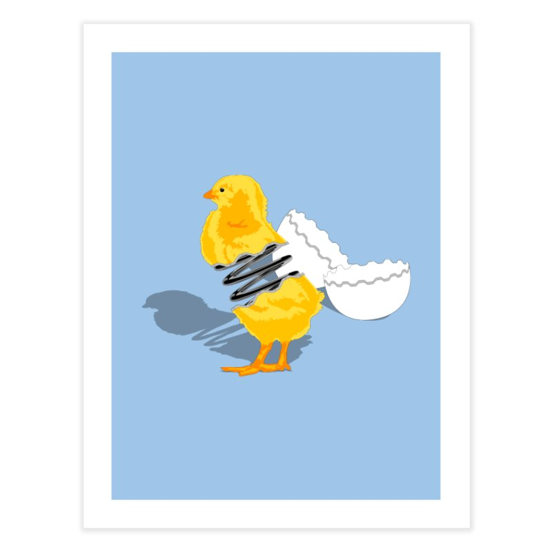 Spring Chicken Home Fine Art Print by brandonjw's Artist Shop