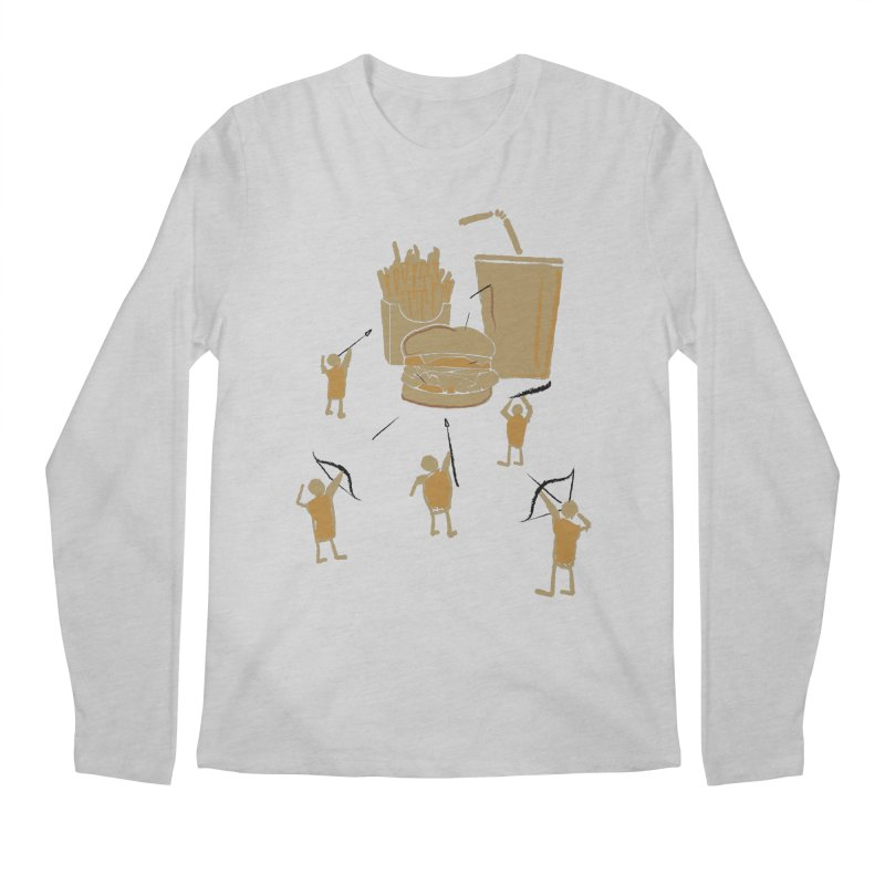 Hunting Party Finds Fast Food Men's Longsleeve T-Shirt by brandonjw's Artist Shop