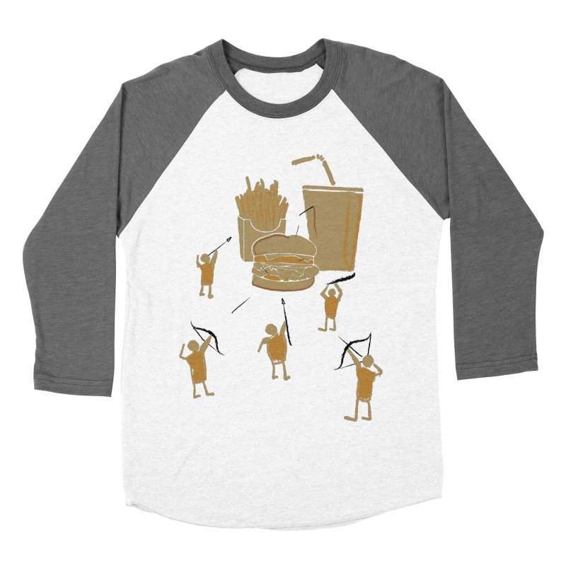 Hunting Party Finds Fast Food Women's Baseball Triblend T-Shirt by brandonjw's Artist Shop